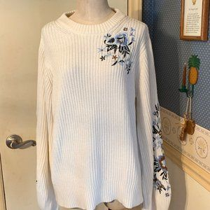 Lucky Brand Sz XL Embroidered Sweater